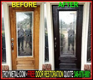 Expert Front Door Restoration Services Serving Katy, Jersey Village, Bellaire, Woodlands, Tomball,& Cypress Texas